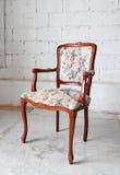 Klassieke uitstekende oude houten stoel Royalty-vrije Stock Afbeelding