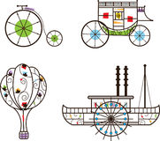 Klassieke Vervoerspictogrammen Stock Foto