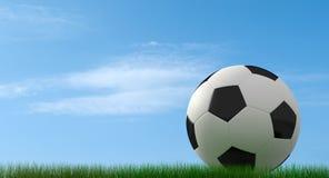 Klassieke voetbal-bal op gras vector illustratie