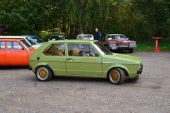 Klassieke Volkswagen-geparkeerde auto Stock Afbeelding