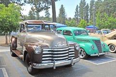 Klassieke Vrachtwagen & Auto Stock Foto's