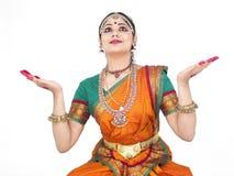 Klassieke vrouwelijke danser van India Stock Foto's