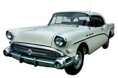 Klassieke witte retro geïsoleerdee auto Royalty-vrije Stock Fotografie