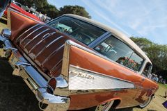 Klassieke zeldzame Amerikaanse Chevy-autoclose-up Stock Foto's