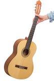 Klassieke zes-koord gitaar ter beschikking Stock Afbeeldingen