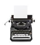 Klassieke Zwarte Schrijfmachine Stock Foto
