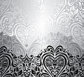 Klassieke zwarte & witte uitstekende uitnodigingsachtergrond Stock Foto's