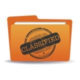 Klassifizierte Datei stock abbildung