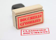 Klassifizierte Dokumente Lizenzfreies Stockbild