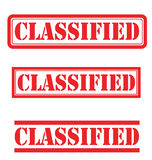 Klassifizierter Satz Lizenzfreie Stockbilder