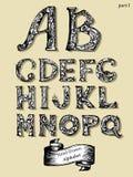 Klassiker alphabet-1 vektor illustrationer