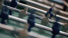 Klassiker alterte Foosball-Tabelle stock footage
