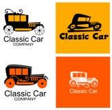 Klassiker Bil Företag Logo Set Royaltyfri Fotografi