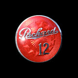 Klassiker-Chrome-Ausweis Packard zwölf Stockfotos