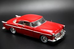 Klassiker ` s rotes Auto-Modell 1950 Stockfotografie