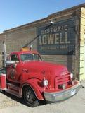 KlassikerGMC en diesel- lastbil, Lowell, Arizona Arkivbilder