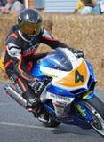 Klassikermotorcykelgata tävlings- Suzuki GSXR600 på nya Methven Royaltyfria Bilder