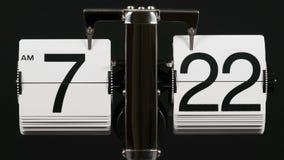 Klassikern bläddrar klockatimelapse vektor illustrationer