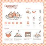 Klassikerrezept der kleinen Kuchen Lizenzfreie Stockbilder