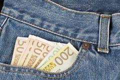 Klassikerskarv i jeans Arkivbilder