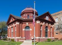 Klassisch entworfener Dr. Eugene Clark Library in Lockhart Texas stockbild