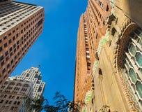 Klassische alte Architektur im Stadtzentrum gelegenes Detroit stockfoto