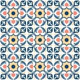 Klassische alte spanische Luxusfliese des Musters stockbilder