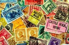 Klassische Amerika-Briefmarken Stockbild