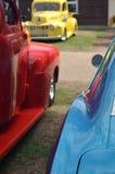 Klassische amerikanische Autos bei Brooklands Lizenzfreies Stockbild