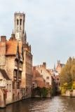 Klassische Ansicht von Brügge Stockbilder