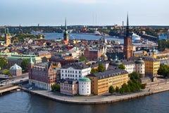 Klassische Ansicht von Stockholm, Schweden Stockbilder