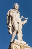 Klassische Apollo-Marmorstatue Stockbild