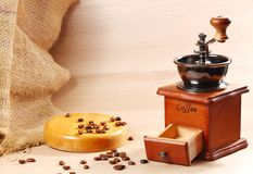 Klassische Art der Kaffeemühle Stockbild