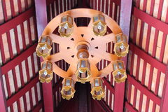 Klassische asiatische Decken-Lampe Stockbilder