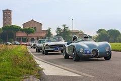 Klassische Autosammlung in Ravenna Stockfotografie