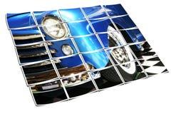 Klassische blaue Limousine mit Whitewalls lizenzfreie abbildung
