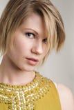 Klassische blonde behaarte Schönheit Lizenzfreie Stockfotos