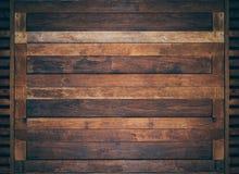 Klassische braune Holztüren Lizenzfreies Stockfoto