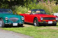 Klassische Bristish-Autos Lizenzfreies Stockfoto