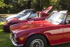 Klassische britische Autos Stockfotos