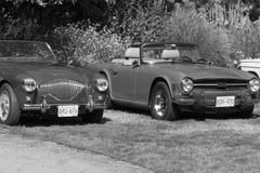 Klassische britische Autos Lizenzfreie Stockfotografie