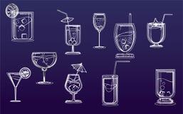 Klassische Cocktails lizenzfreie abbildung