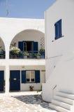 Klassische Cycladen-Architektur IOS-Grieche-Insel Lizenzfreies Stockfoto
