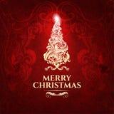 Klassische dunkelrote modische erstklassige elegante Karte der frohen Weihnachten Stockbild