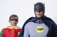 Klassische Fernsehshow Batman und Robin Hot Toys Action Figures Lizenzfreies Stockbild