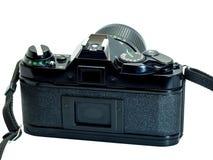 Klassische Filmkameraisolierung auf Weiß stockfoto