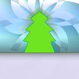 Klassische Form konzipierte Baum auf blauem Blumen lizenzfreie abbildung