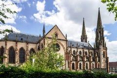 Klassische französische Kirche Stockfotografie