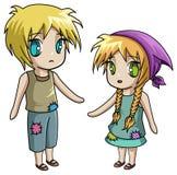 Klassische Geschichten - Hansel und Gretel kein Hintergrund Lizenzfreies Stockbild