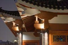 Klassische Gesims-Ruzi Pavillon-Parknacht Stockfotografie